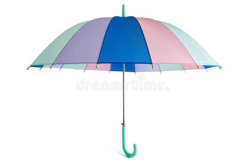Pastell farbiger Regenschirm lizenzfreie stockbilder