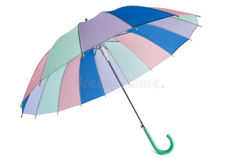 Pastell farbiger Regenschirm lizenzfreie stockfotos