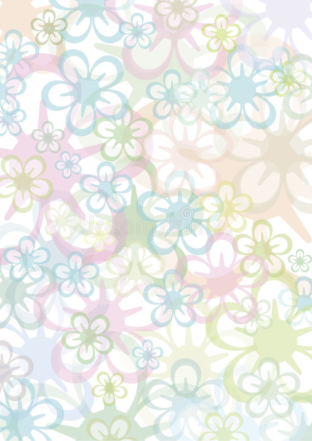 Pastell floral background stock illustration