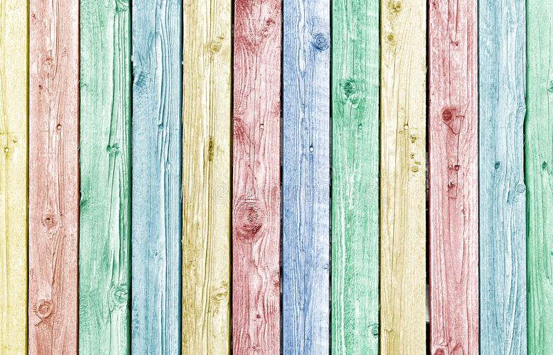 Pastell målade gamla red ut wood plankor arkivbilder