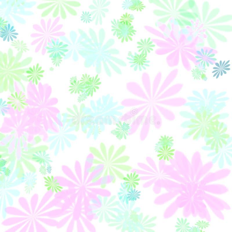 Pastellblumenmustergeschenkpapier stock abbildung