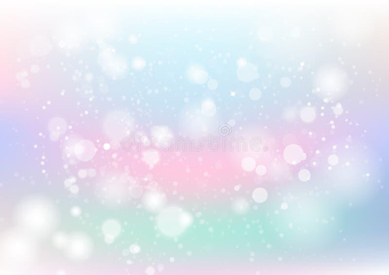 Pastellfärgad abstrakt färgrik, damm- och partikelscatte för bakgrund, royaltyfri illustrationer