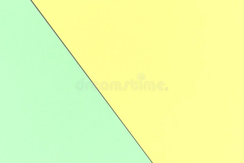 Pastellfärgad bakgrund för abstrakt geometrisk regnbåge med pastellfärgade gula och magiska mintkaramellfärger, vattenfärgpappers royaltyfri illustrationer