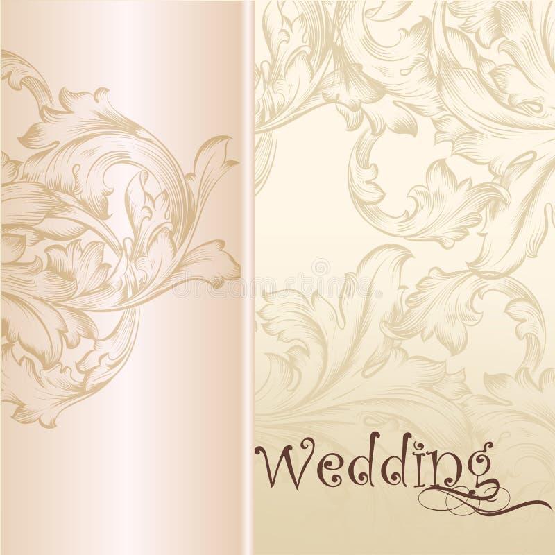 Pastellfärgad bakgrund för bröllopvektor för design stock illustrationer