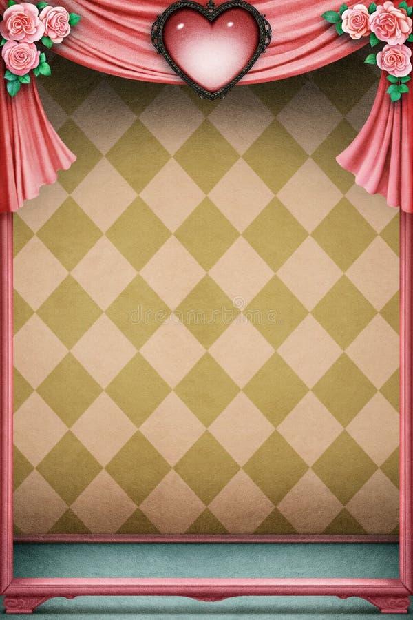 Pastellfärgad bakgrund med hjärta royaltyfri illustrationer
