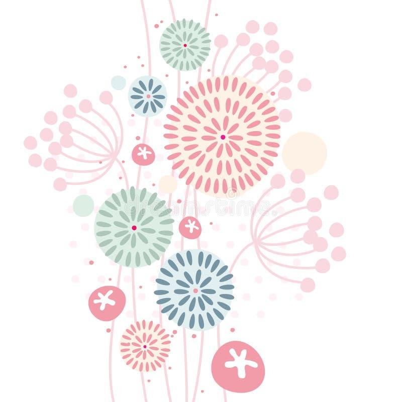Pastellfärgad blom- bakgrund royaltyfri illustrationer