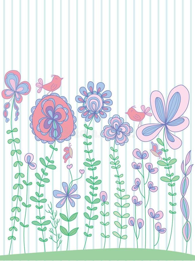 Pastellfärgad blomningmall för blomma vektor illustrationer