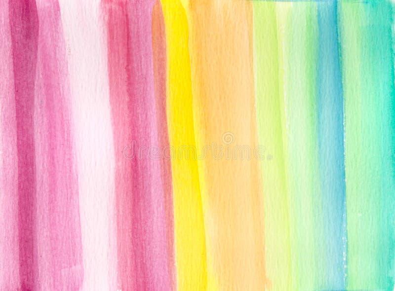 Pastellfärgad colroful bakgrund för vattenfärg vektor illustrationer