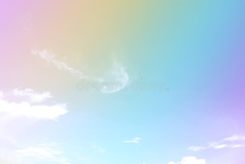 Pastellfärgad färg av himlen fotografering för bildbyråer