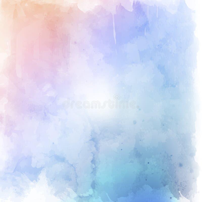 Pastellfärgad grungebakgrund stock illustrationer