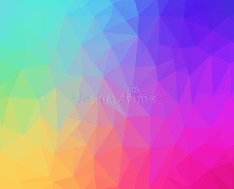 Pastellfärgad polygonbakgrund för regnbåge royaltyfri fotografi
