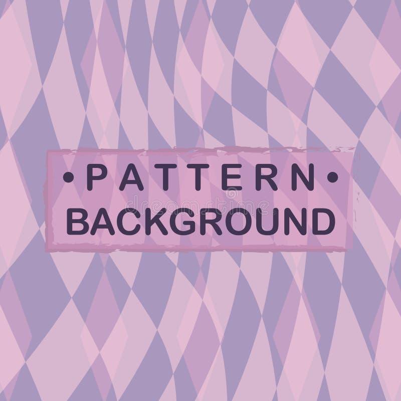 Pastellfärgad purpurfärgad signaldiamantbakgrund royaltyfri illustrationer