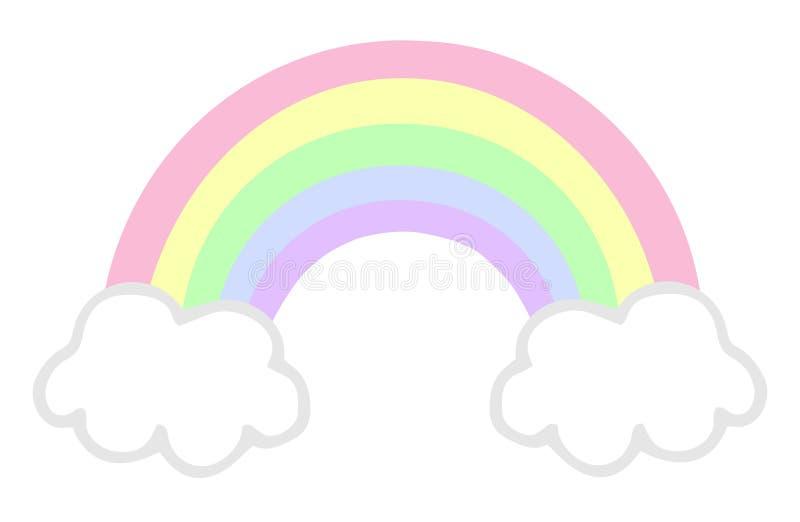 Pastellfärgad regnbåge royaltyfri illustrationer