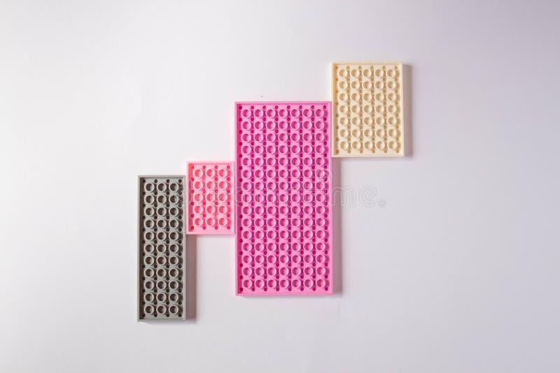 Pastellfärgad rosa modell med utrymme för text stock illustrationer