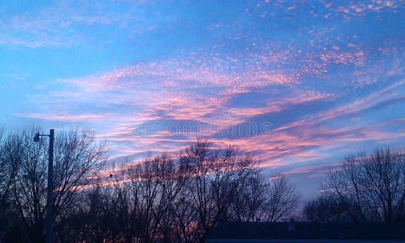 Pastellfärgad solnedgång royaltyfri fotografi
