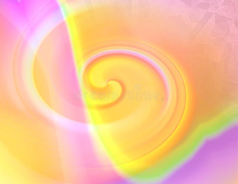 pastellfärgad swirl stock illustrationer