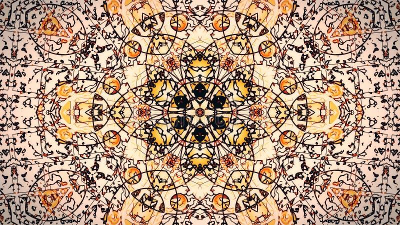 Pastellfärgade kalejdoskopföljdmodeller Abstrakt rörelsediagrambakgrund royaltyfri fotografi