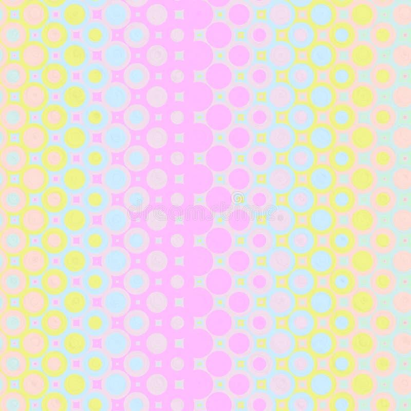 pastellfärgade modellcirklar stock illustrationer