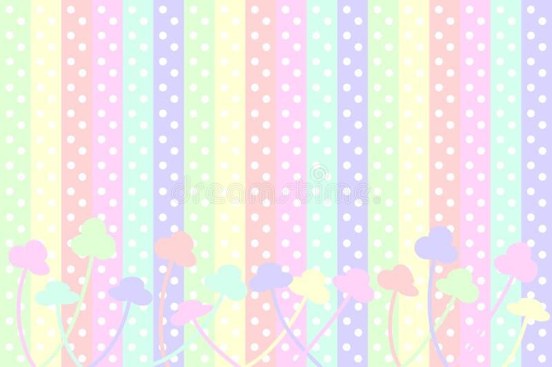 pastellfärgade prickblommor stock illustrationer