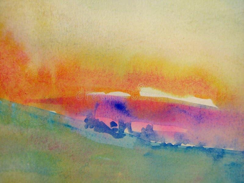 pastellfärgade vattenfärger stock illustrationer