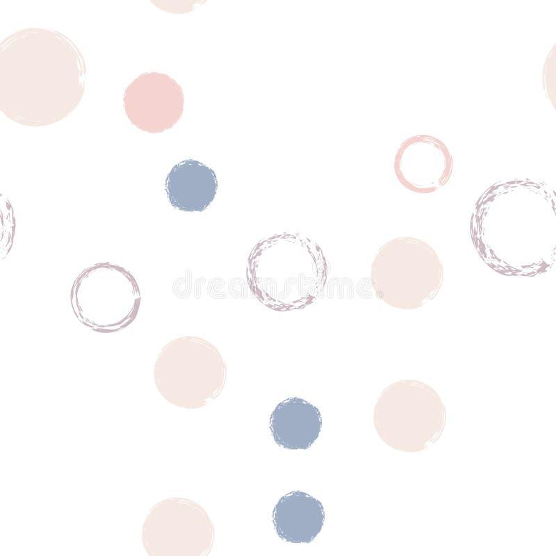 Pastellf?rgad s?ml?s modell f?r prickar vektor illustrationer