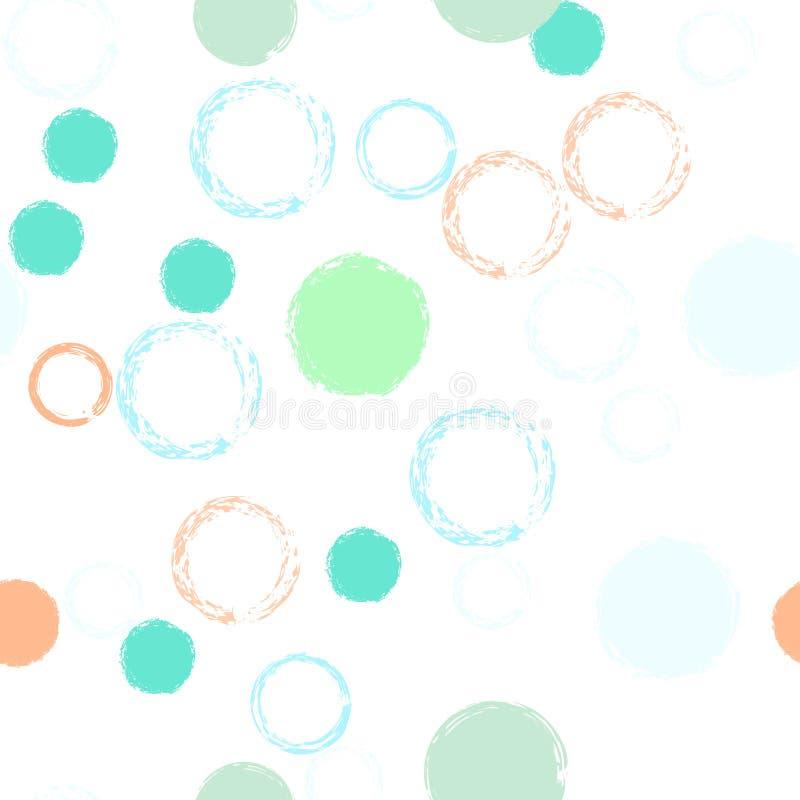 Pastellf?rgad s?ml?s modell f?r prickar stock illustrationer