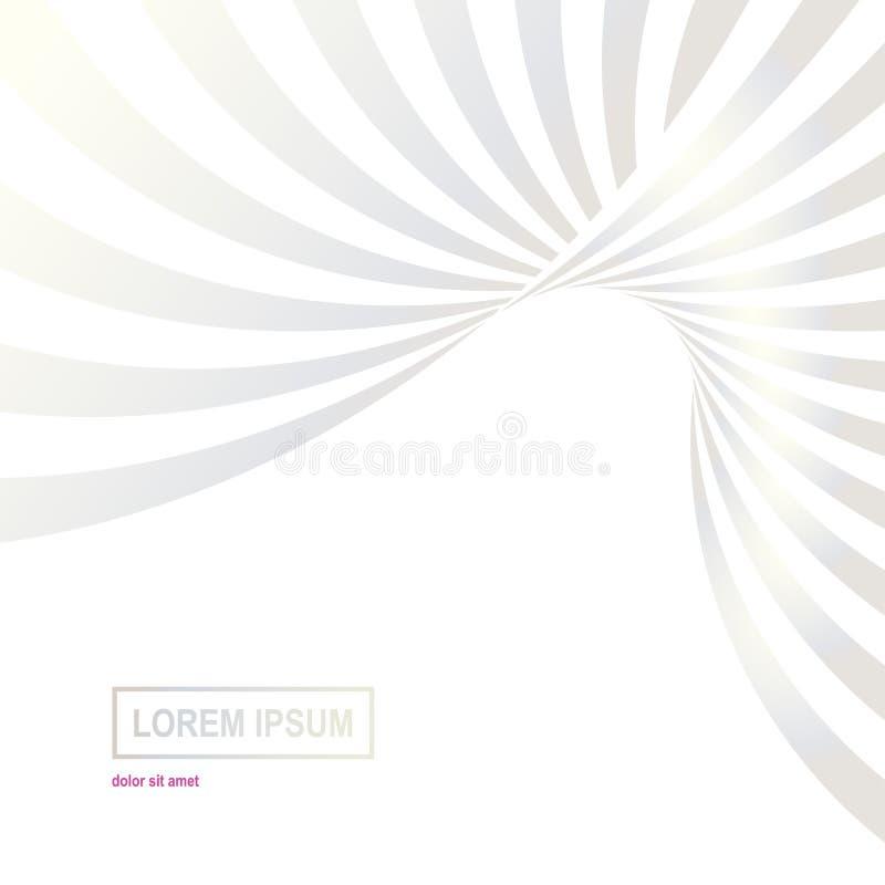 Pastellfarbwelle zeichnet Hintergrund Abstrakter Hintergrund der optischen Täuschung stock abbildung