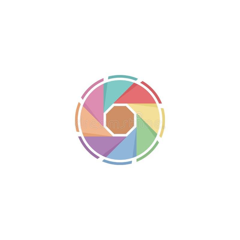 Pastellfotofensterladenlogo lizenzfreie abbildung