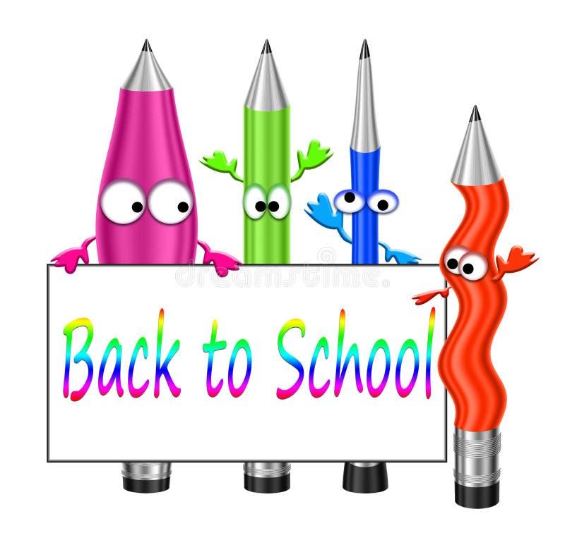 Pastelli colorati del fumetto. illustrazione di stock