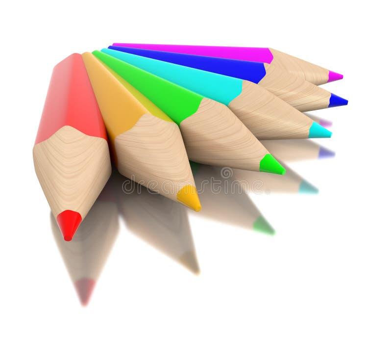 pastelli variopinti 3d illustrazione vettoriale