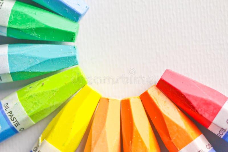 Pastelli del pastello dell'olio fotografia stock libera da diritti