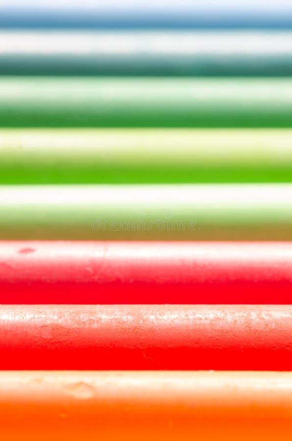 Pastelli del pastello dell'olio fotografie stock