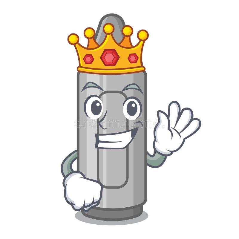 Pastello grigio di re in un fumetto della borsa illustrazione vettoriale