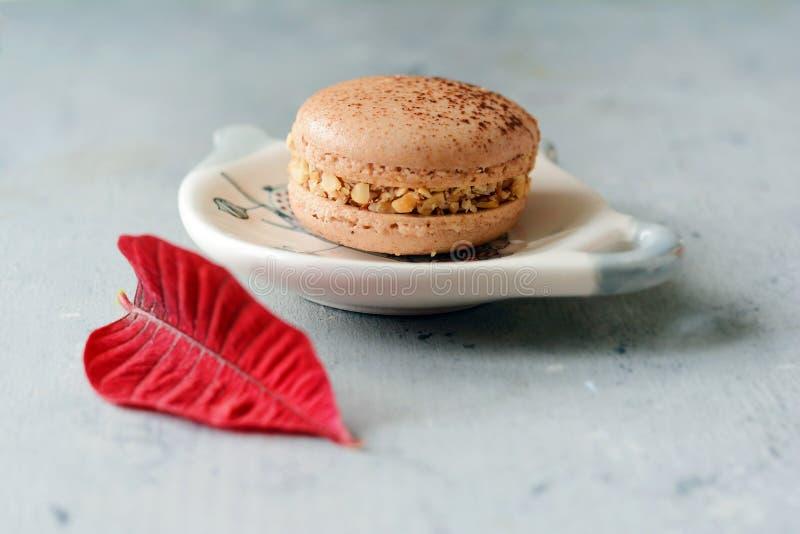 Pastello variopinto variopinto francese Macarons di Macarons Piccoli dolci del francese Concetto di giorno del ` s del biglietto  immagine stock libera da diritti