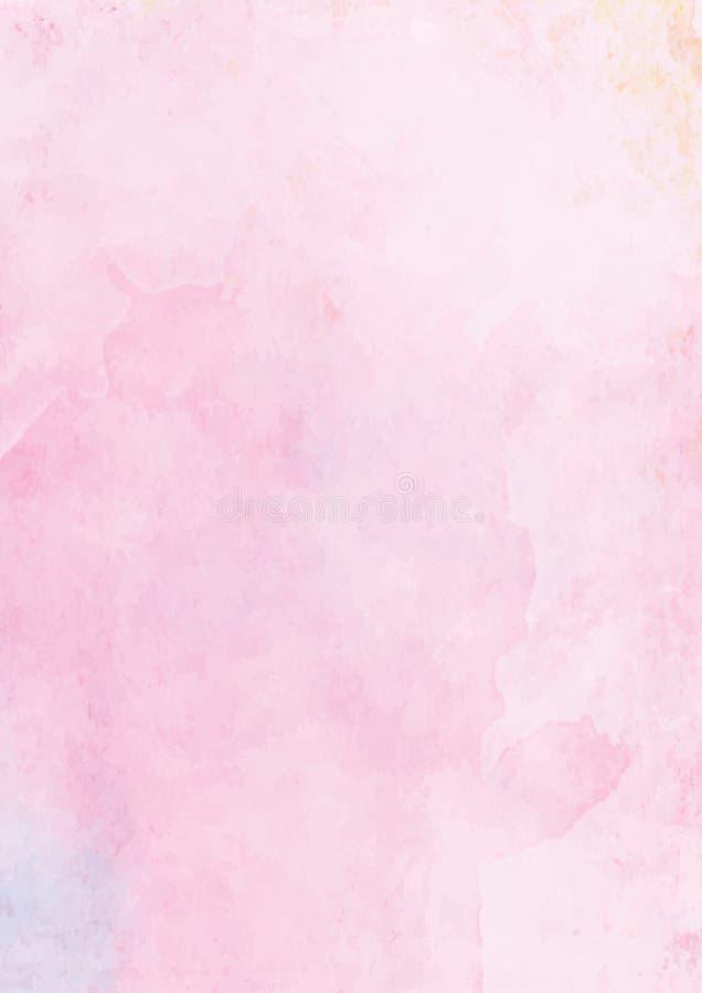 Pastellrosa-Aquarellzusammenfassungs-Papierhintergrund vektor abbildung