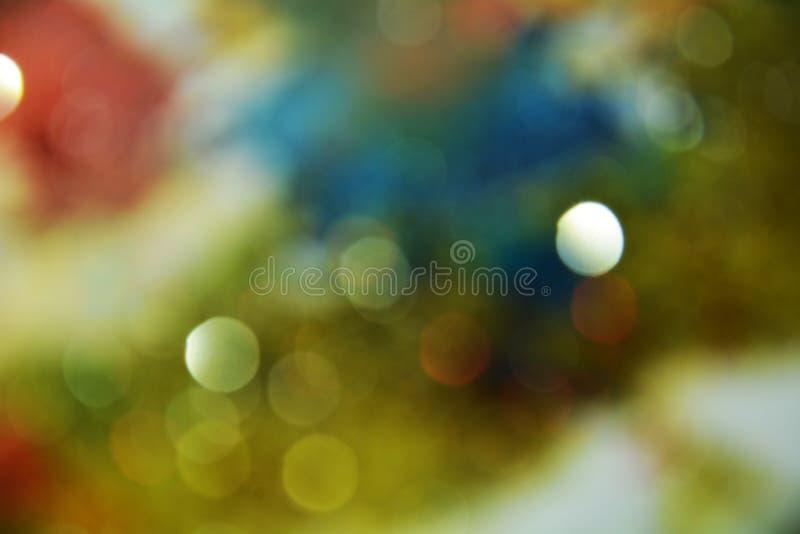 Pastellrundschreiben beleuchtet bunte Farben, Hintergrund, bokeh stockfoto