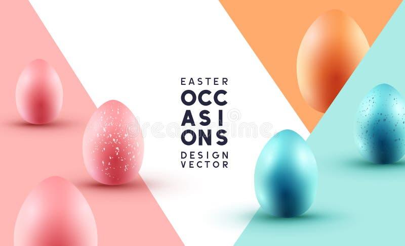 Pastellschokoladen-Easter Egg-Hintergrund-Plan lizenzfreie abbildung
