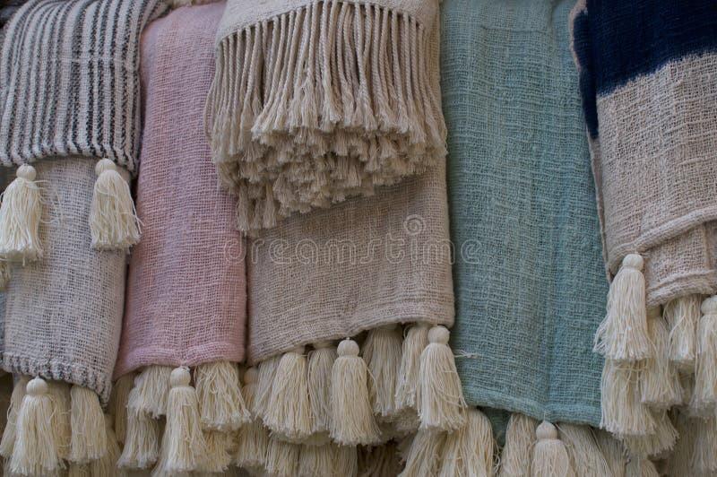 Pastellwolldecken der böhmischen Art stockbild