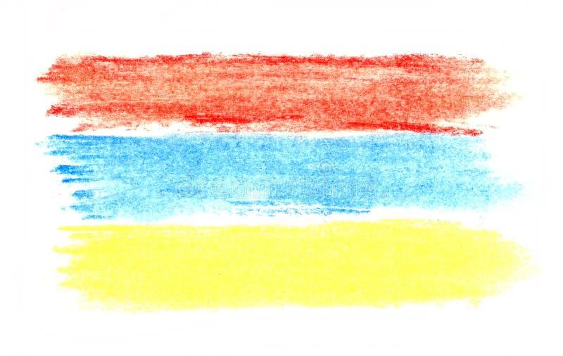 Pastellzeichnung Farben von Armenien-Flagge vektor abbildung