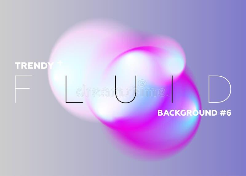Pastelowe Abstrakcjonistyczne gradient plamy Modni Wibrujący fluidów kolory odsalanie royalty ilustracja