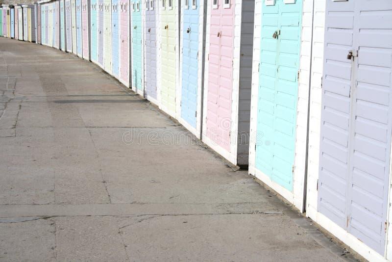 pastelowe plażowe budy zdjęcie royalty free