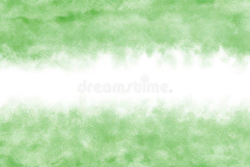 Pastelowego koloru świeży zielony abstrakt lub akwareli farby tło royalty ilustracja
