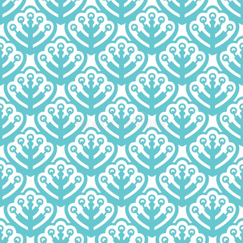 Pastelowego koloru bezszwowi wzory z liśćmi royalty ilustracja