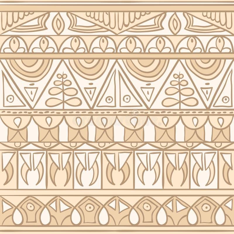 Pastelowego plemiennego boho etniczny bezszwowy ornament royalty ilustracja