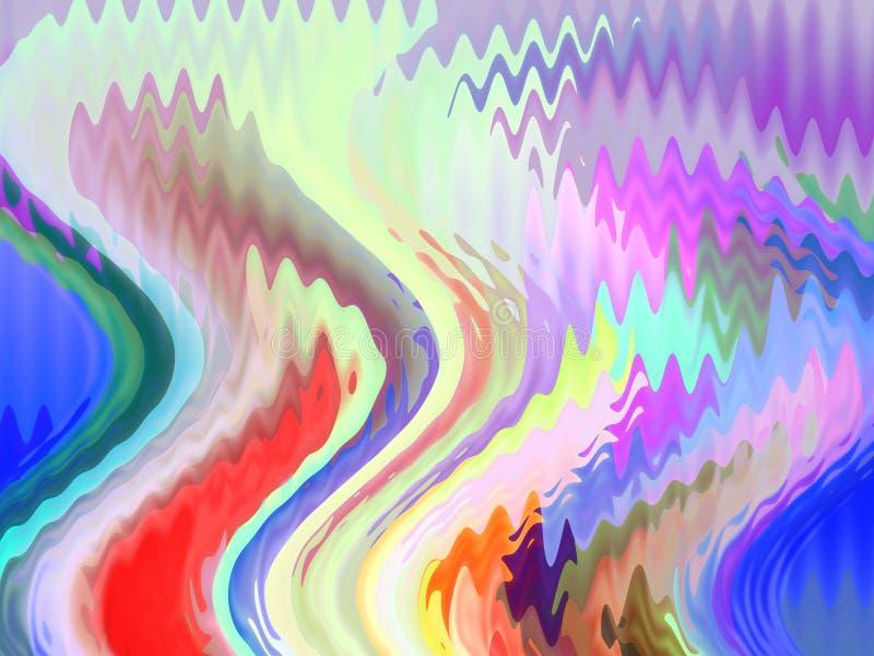 Pastelowej tęczy geometrii rzadkopłynny szklany tło, grafika, abstrakcjonistyczny tło i tekstura, royalty ilustracja