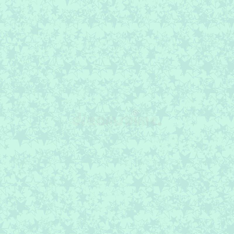Pastelowy abstrakcjonistyczny bezszwowy wzór z grunge teksturą zieleń gra główna rolę na zielonym tle royalty ilustracja