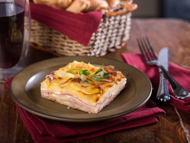 Pastelowy De Tata, typowa Peruwiańska kartoflana potrawka zdjęcia royalty free