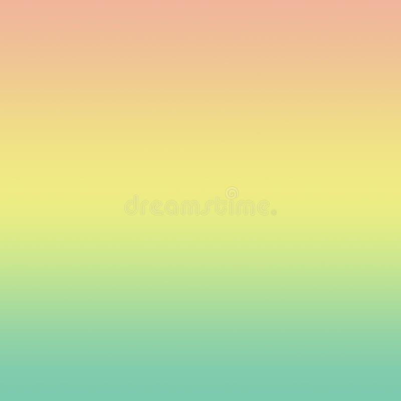 Pastelowy Kolorowy Gradientowy Minimalny Ombre Wielo- Barwiony tło ilustracji
