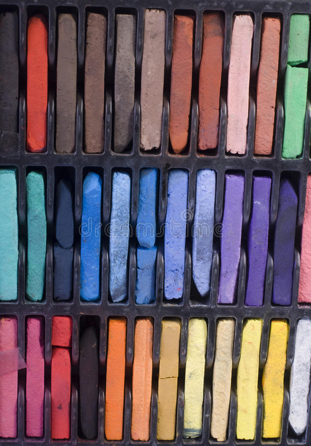 Pastels. Picture of a soft pastels set stock image