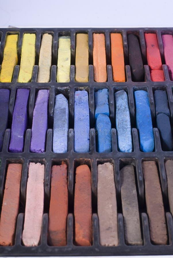 Pastels. Big set of colorful soft pastels stock photos